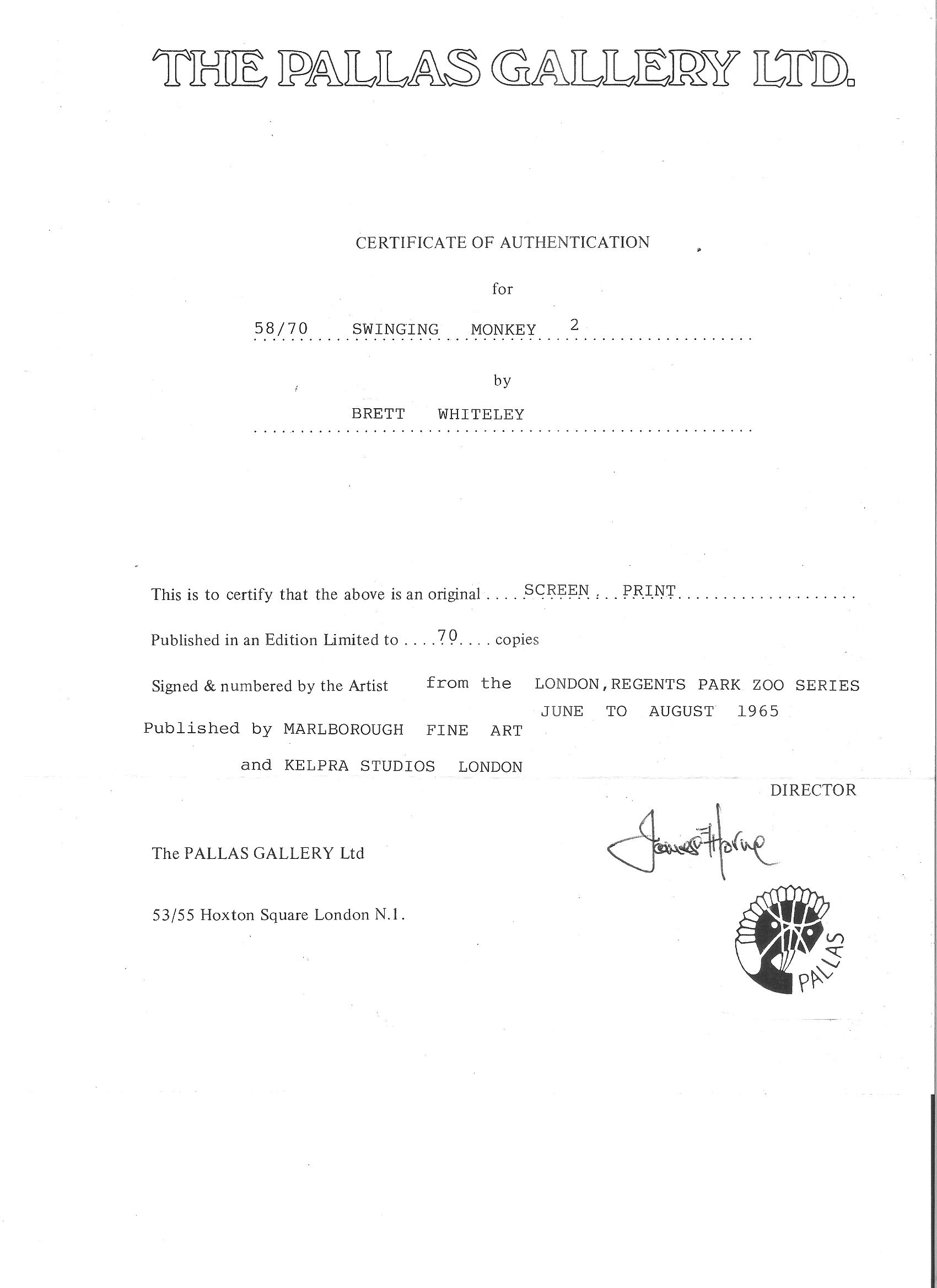 Certificate of authenticity art template image collections displaying items by tag australian paintings jpg click to enlarge image brett whiteley certificate of authenticityg yadclub Choice Image